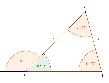 Der Außenwinkel Im Dreieck