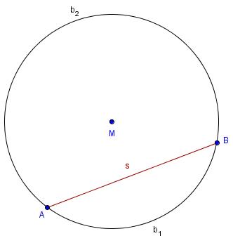 Kreissehne und Kreisbogen