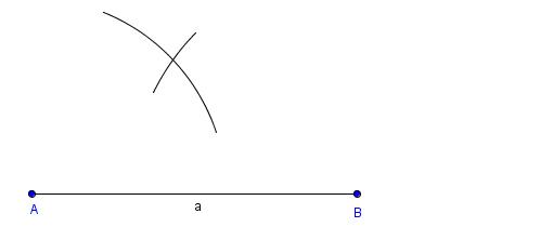verbibdeb kreis und linie mit radius