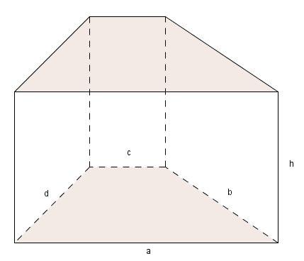 Prisma mit trapezförmiger Grundfläche