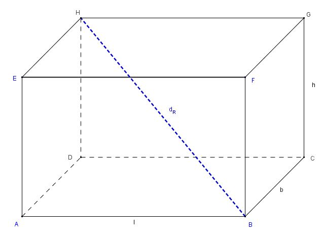 raumdiagonale eines quaders